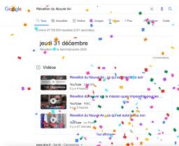Easter Egg de Google 31 décembre