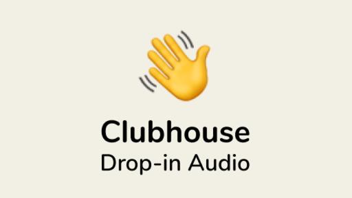 Clubhouse drop-in Audio avec main qui salur