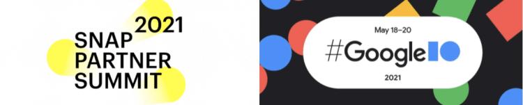 Snap Partner Summit / Google I/O logos