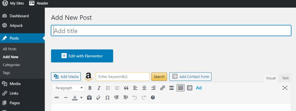 WordPress adds a new title