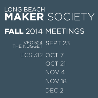 Starting October 7, we will be meeting in the Niggli Conference Center in ECS 312.