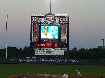 7 minutes in and the Ironbirds gain a 1 run lead against opponent Hudson Valley N.Y.