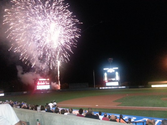 Fireworks lit up the sky, and the fans spirits following a tough 6-5 loss against Hudson Valley.