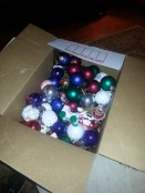 A whole box of ornaments was found last minute in our basement. We couldn't figure out why the tree was so bare!