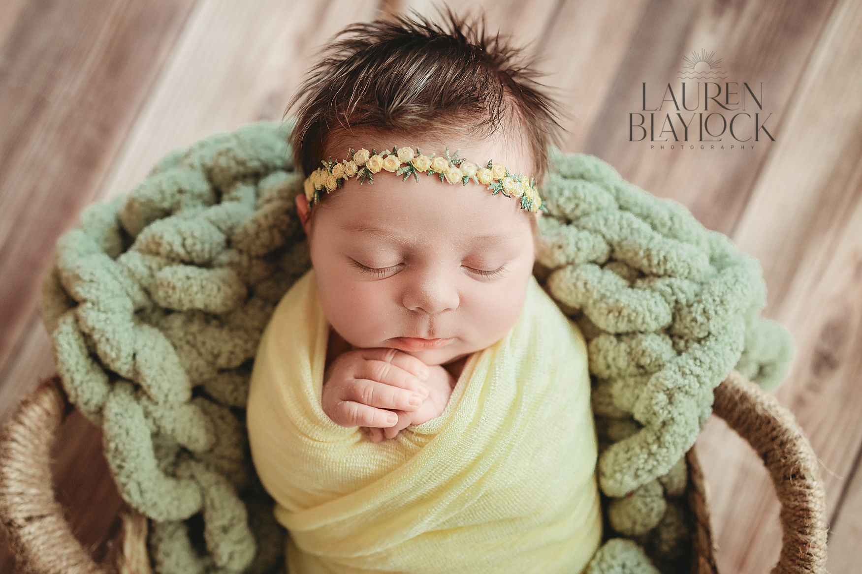Newborn baby girl poses for Newborn Photographer Tampa. Author is discussing an why a custom newborn photography session is better than hospital newborn photos