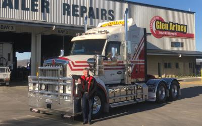 Mick McCulloch takes delivery of Kenworth T610 SAR