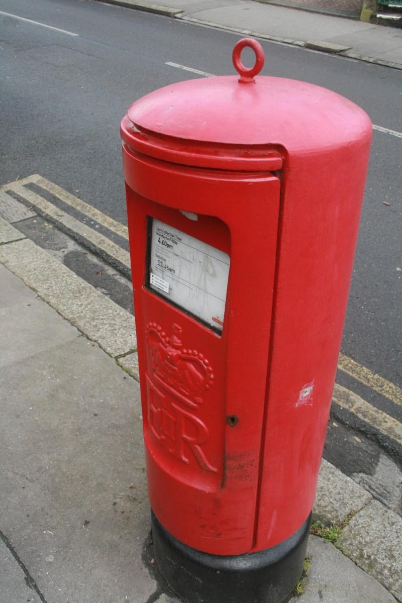 E2R pillar box, 1980s. Robert Cole