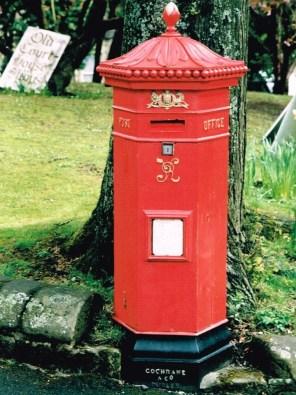 VR Penfold pillar box 1870s, Peak District. Simon Vaughan Winter