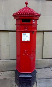 VR/E2R Penfold pillar box, 1980s, Edinburgh. Robert Cole