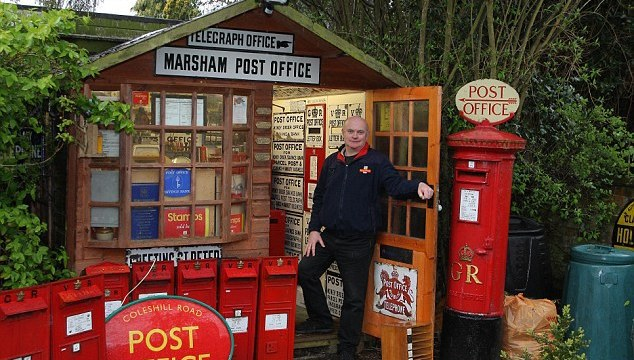 My shed is a 1950s post office: collector transforms garden...