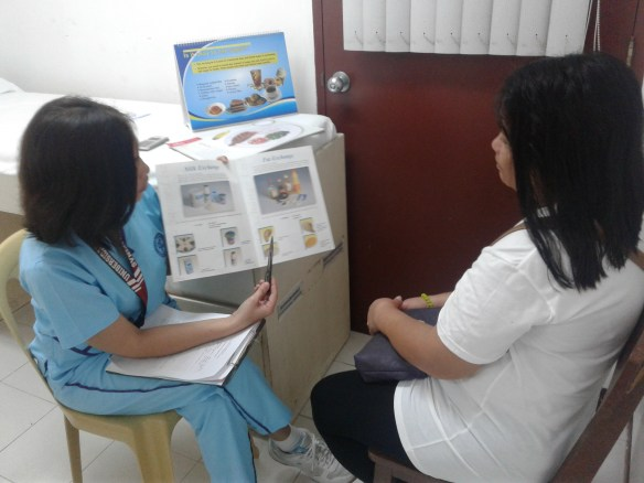 Consultation kasama ang nutritionist dietitian na si Ms. Desiree Reyes