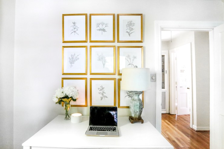 How To: Gold Frame Gallery Wall