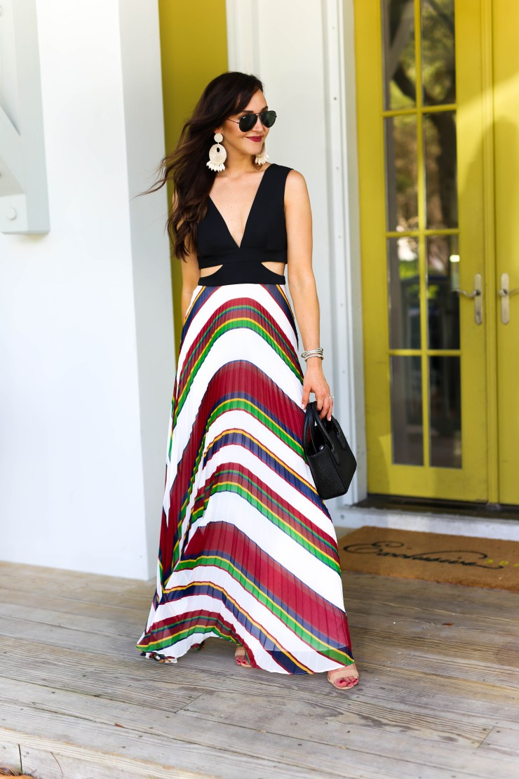 Birmingham Blogger // pleated maxi dress