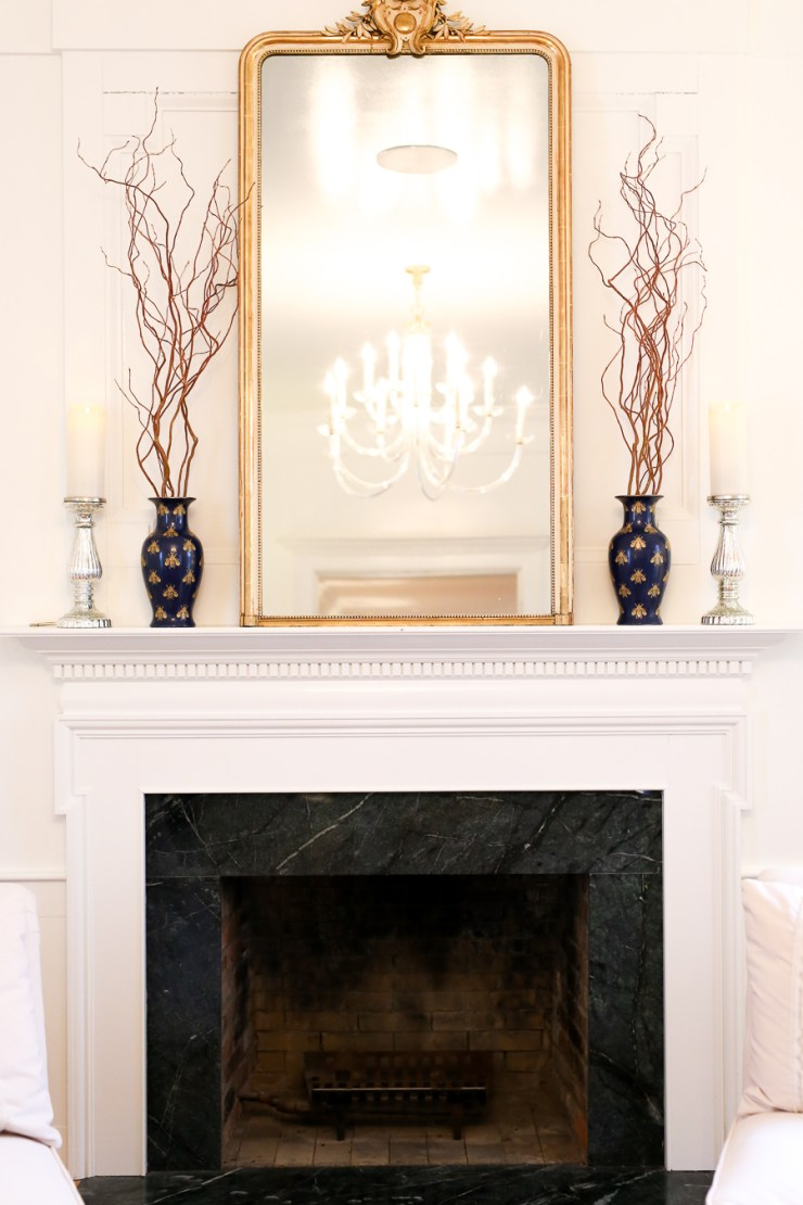 Gold Frame On Mantel