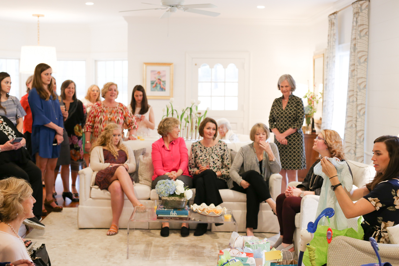 Opening The Baby Shower Gifts