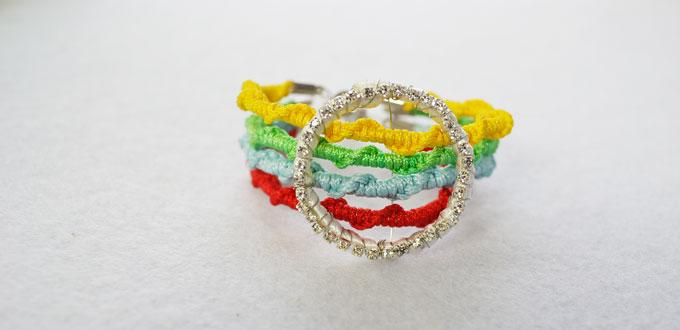 DIY Woven Bracelet-How to Braid a Colorful Four Strand Bracelet