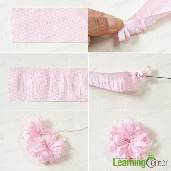 Easy Steps On How To Make Ribbon Flower Hair Clips
