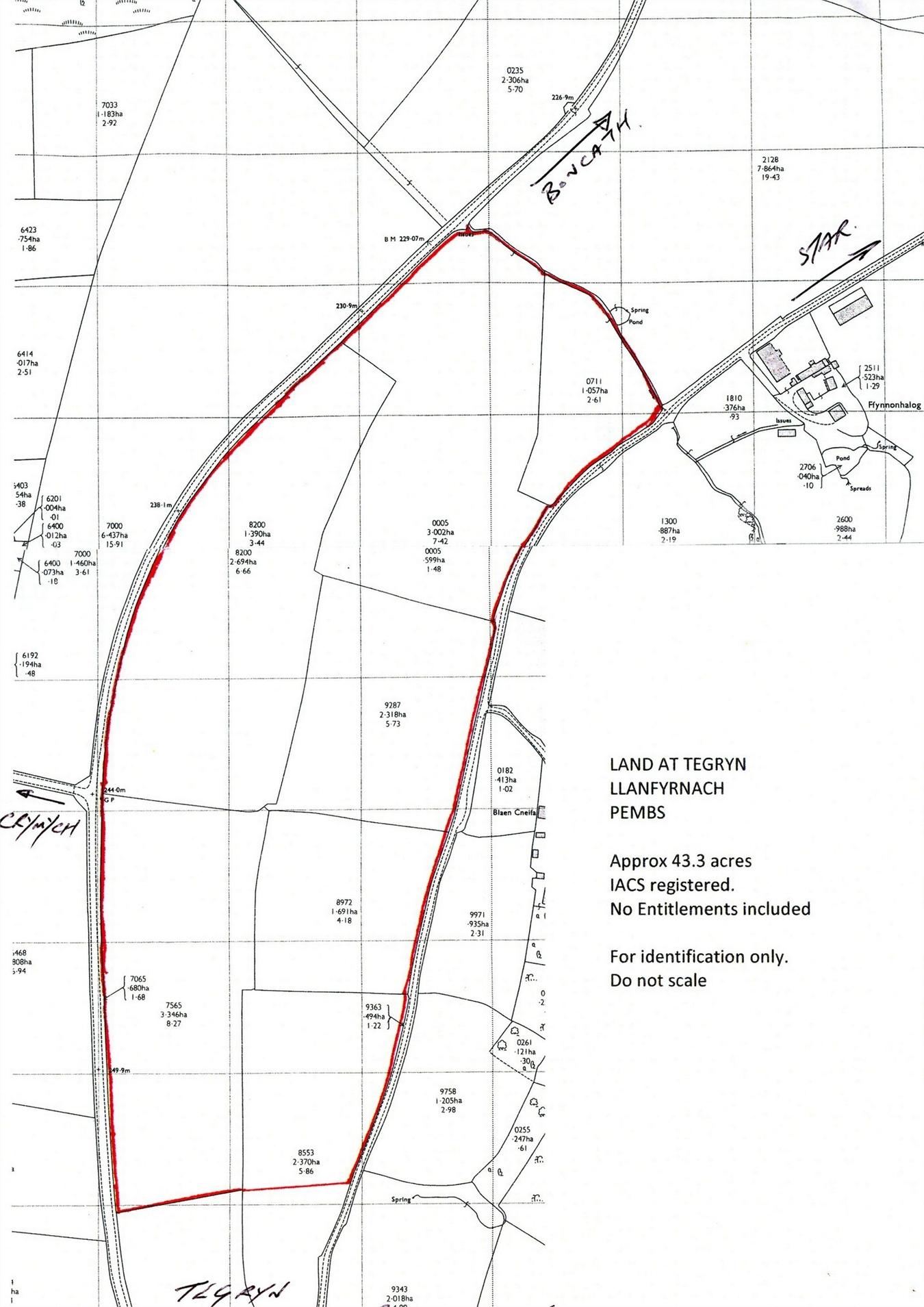 Land For Sale In 43 3 Acres Land Tegryn Llanfyrnach