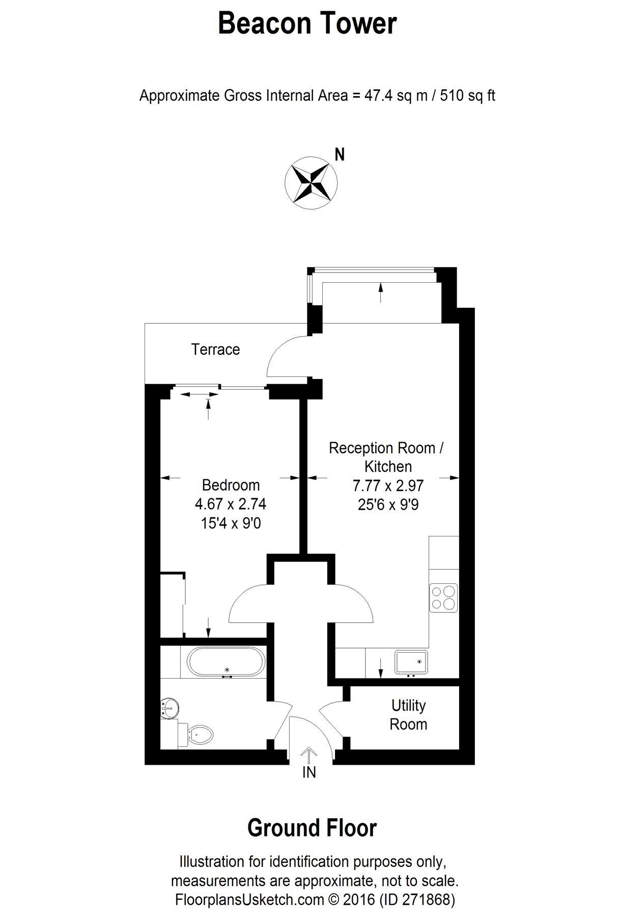 1 Bedroom Flat For Sale In Beacon Tower 1 Spectrum Way