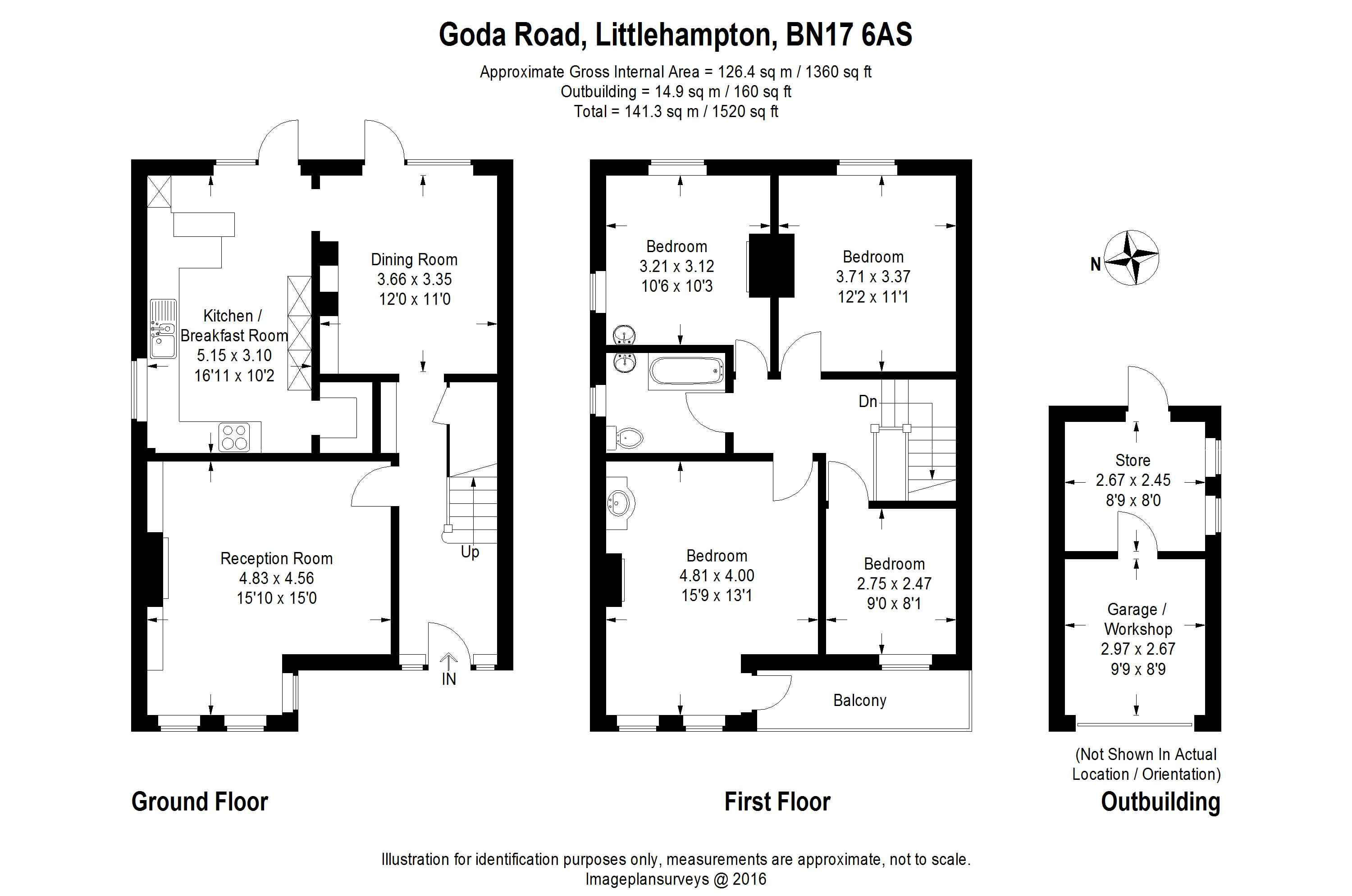 Goda Road Littlehampton West Susbn17 4 Bedroom Semi