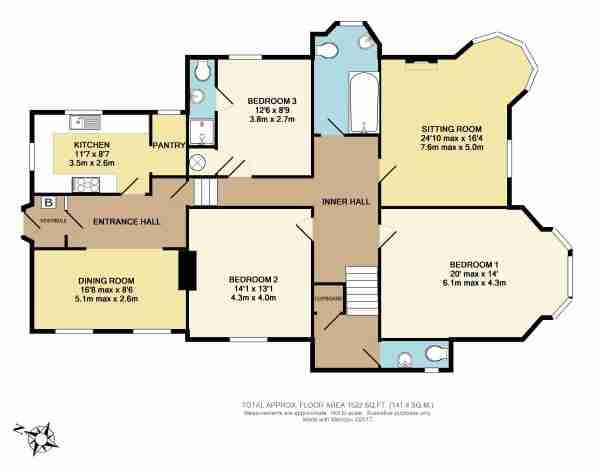 Holm Lodge Livermead Hill, Torquay TQ2, 3 bedroom flat for ...