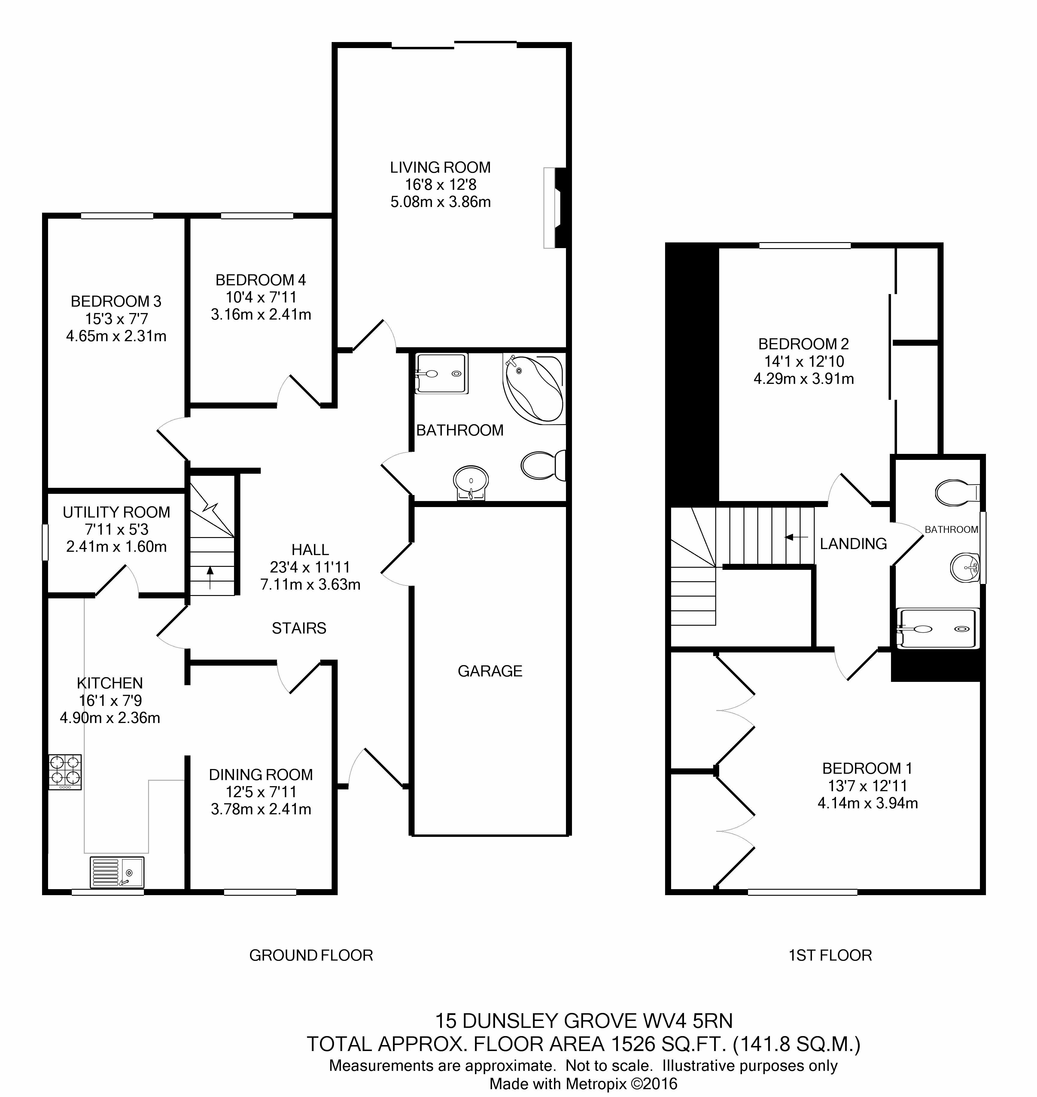 Dunsley Grove Penn Wolverhampton Wv4 4 Bedroom Detached Bungalow For Sale
