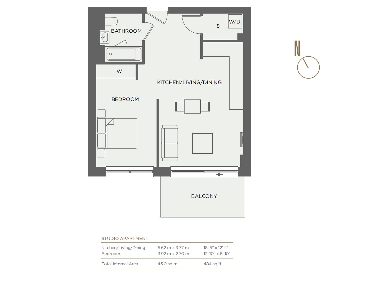 New Home Studio For Sale In Pandorea House Colindale London Nw9