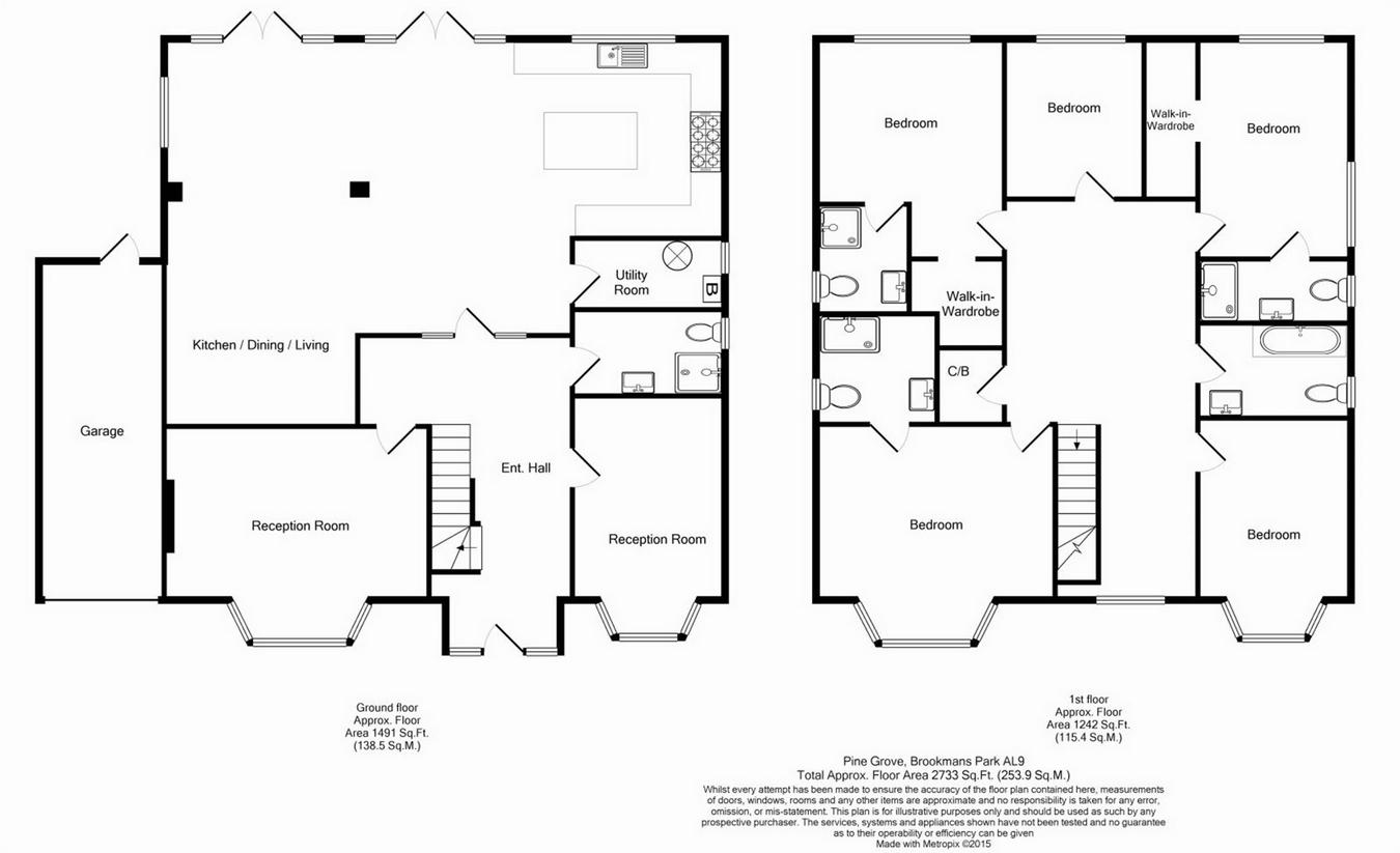 Pine Grove Brookmans Park Herts Al9 5 Bedroom Detached