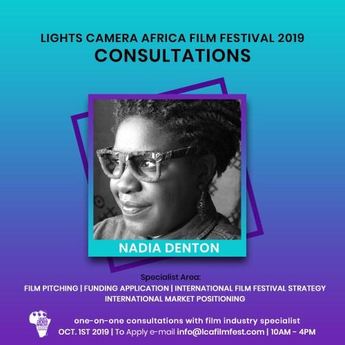 Lights Camera Africa Filmmaker Consultation Nadia Denton