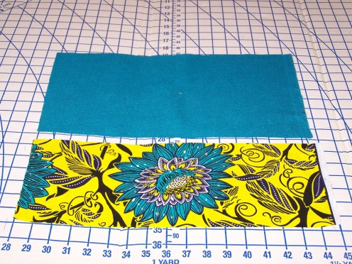 Purse front and back cutout
