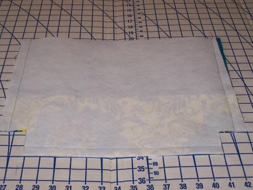 Cut corners 2 inches x 2 inches