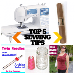 Top 5 Sewing Tips - http://wp.me/p2ZX0M-WB