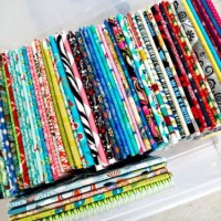 Sewing Tip- Use Magazine Boards to Organize Fabric