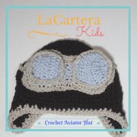 LaCartera Kids - Crochet Aviator Hat- Free Pattern