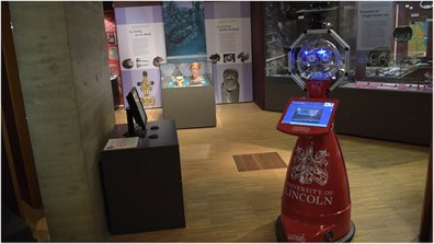 Lindsey, the tour guide robot deployed at The Collection museum.