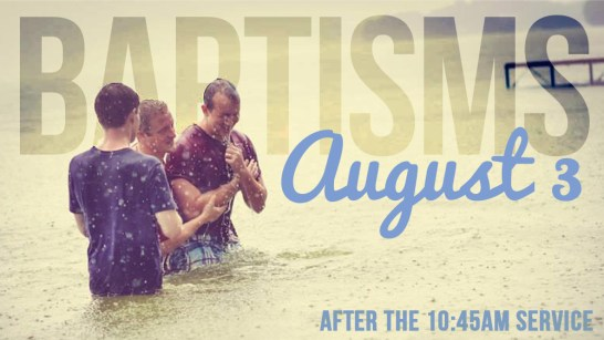 baptisms - after second service