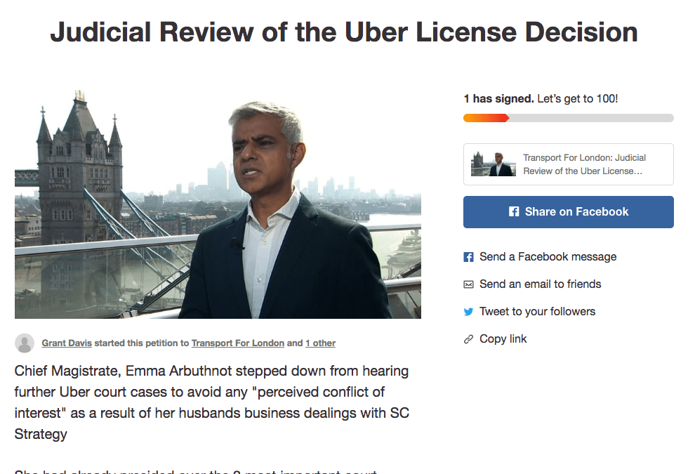 LCDC call for Judicial Review of Uber License Decision