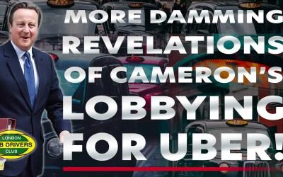 Damming Revelations About David Cameron Lobbying For Uber