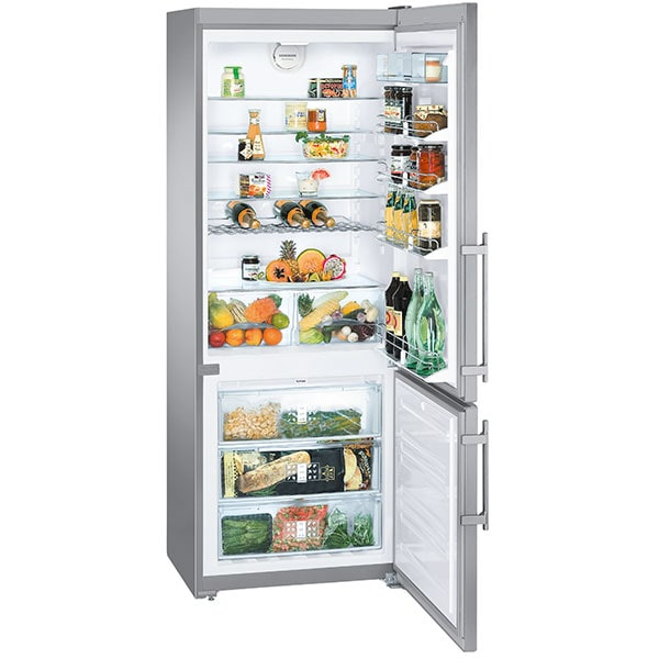 Combina frigorifica LIEBHERR CNPesf 5156, Premium NoFrost, 453 l, H 202 cm, Clasa F, inox