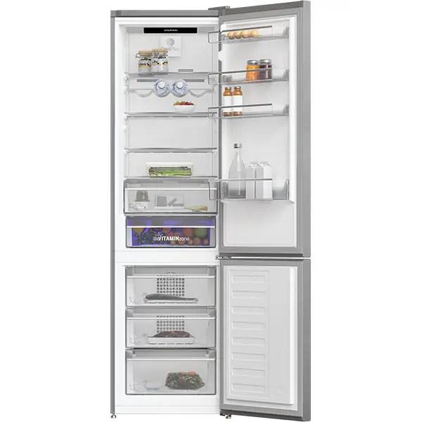 Combina frigorifica GRUNDIG GKNE 262E40 FXN, Cool Plus, 362 l, H 203, Clasa E, inox