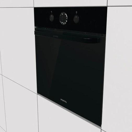 Cuptor incorporabil GORENJE BO74SYB, electric, autocuratare AquaClean, 71 l, Clasa A+, negru