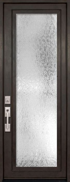 42 x 96 full lite single privacy glass entry door