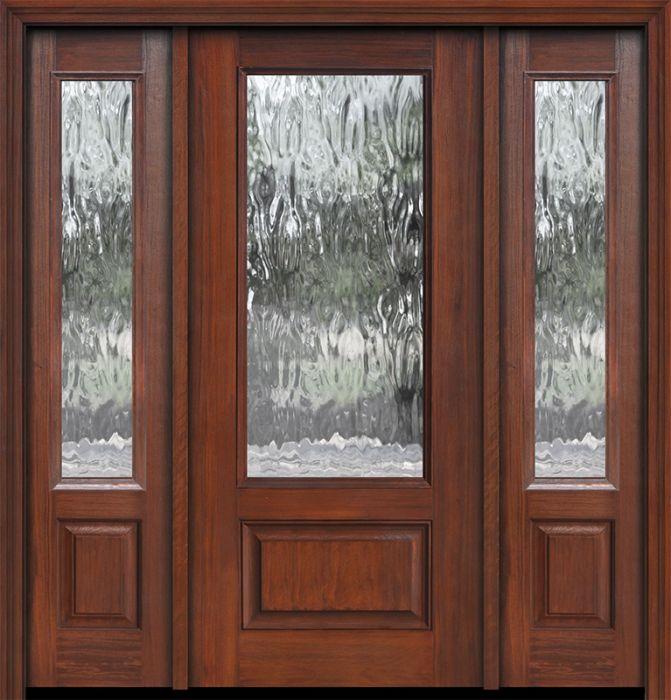 impact 80 3 4 lite privacy glass cherry door 2side