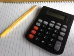 Picture of a calculator and a pencil for maths training