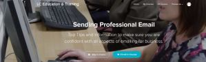 Image of enrolment page for Sending professional email