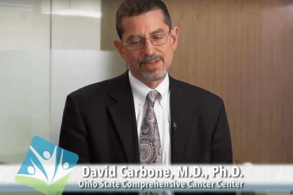 Thumbnail of Dr. David Carbone discussing lung cancer treatments
