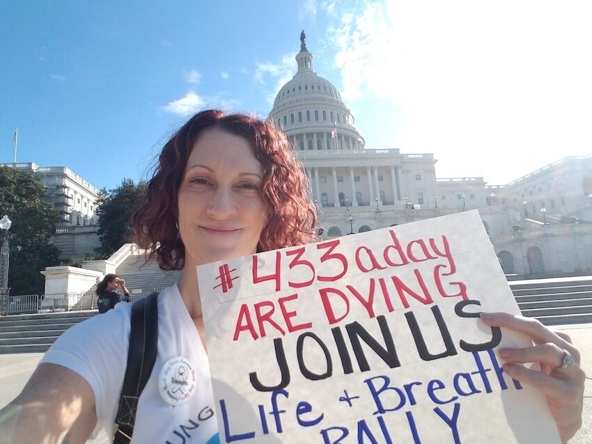 Lysa advocating for lung cancer research in D.C.