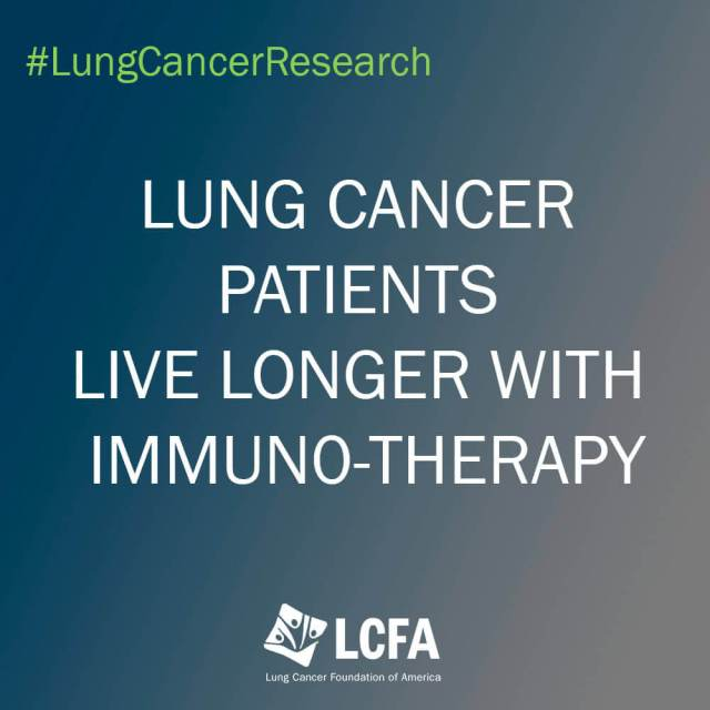 Lung cancer patients live longer with immuno-therapy