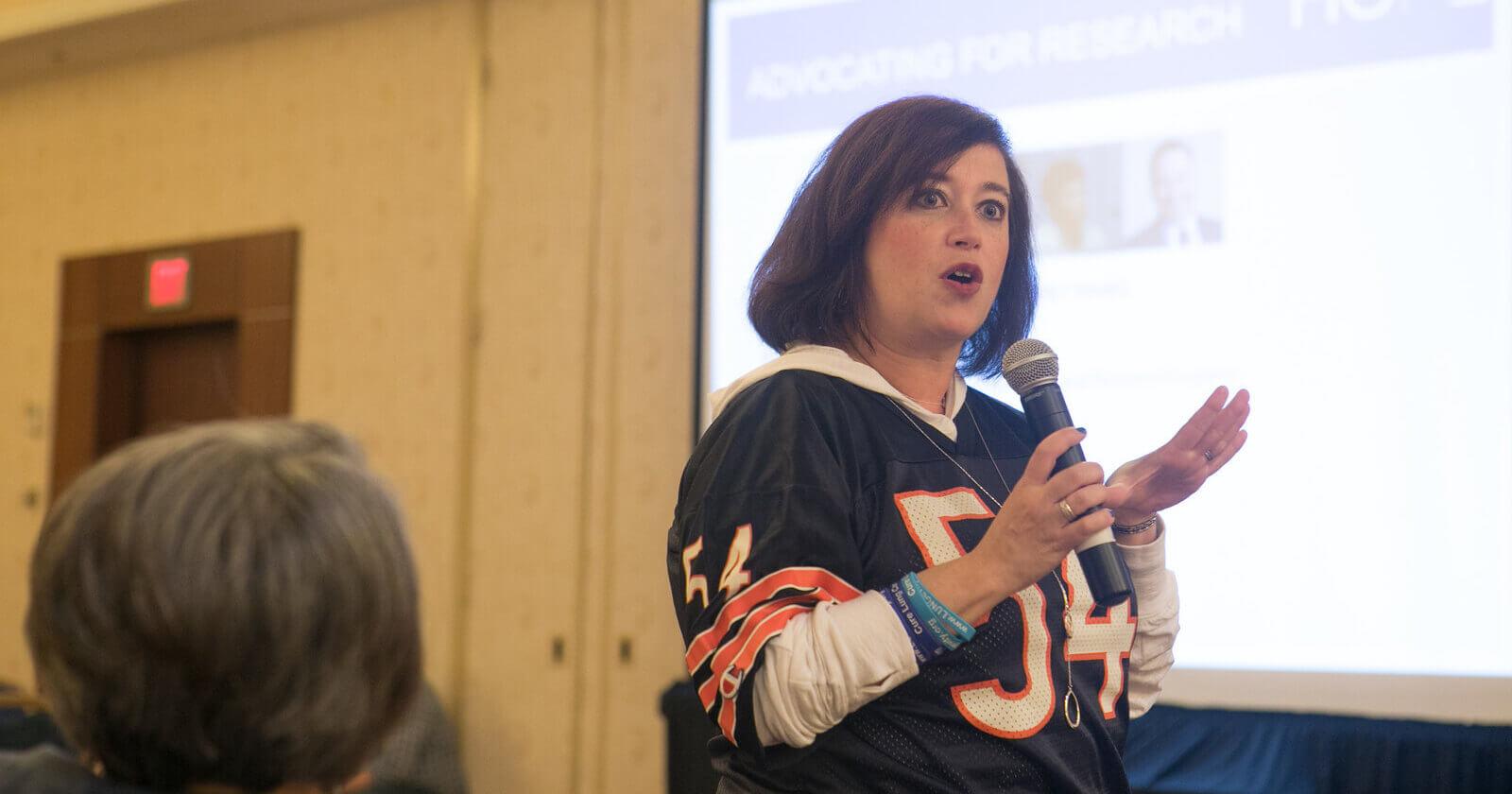 Photo of Ivy Elkins advocating