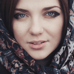 Woman wearing a scarf